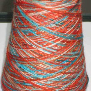 Sock Yarn Cone Merino 80/20 Red Tones 500g