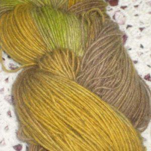 Merino Possum heavy yellow tones 4 ply 100g Hand dyed