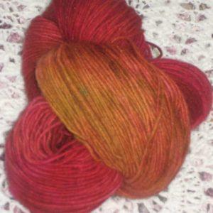 Merino Possum heavy Golden Orange 4 ply 100g Hand dyed