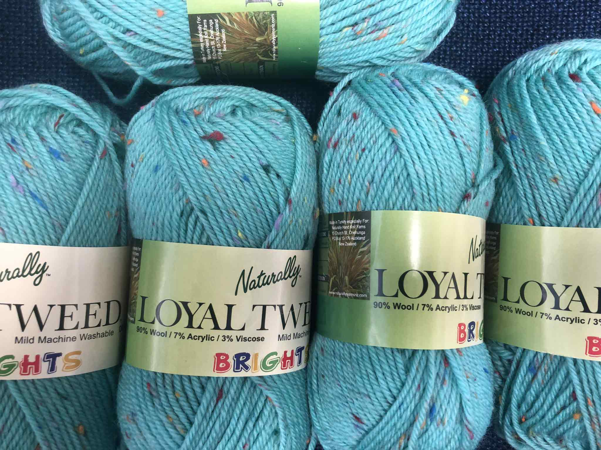 Naturally Loyal Tweed Brights 8ply
