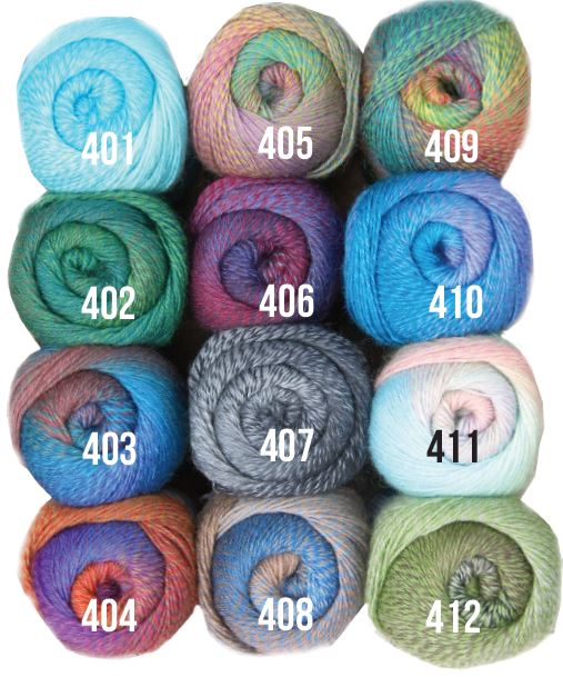 Mandala Knitting yarn colour range - Shop Online